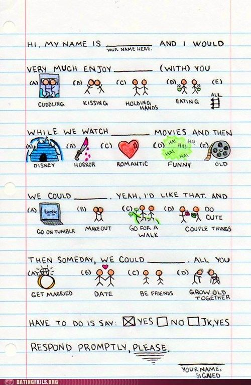 Cute things to do with your crush