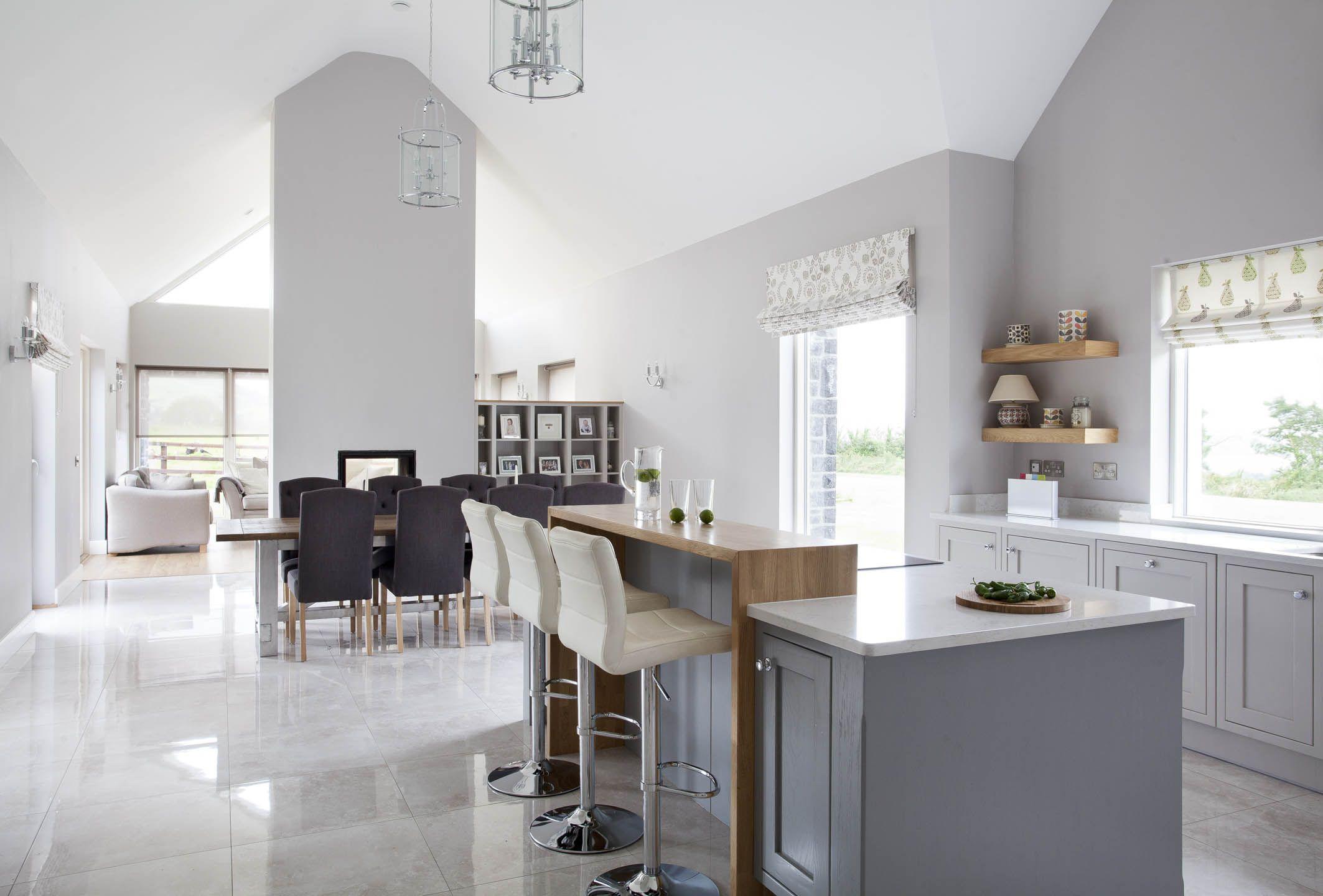Bespoke Kitchen Handpainted In Farrow & Ball Cornforth White With