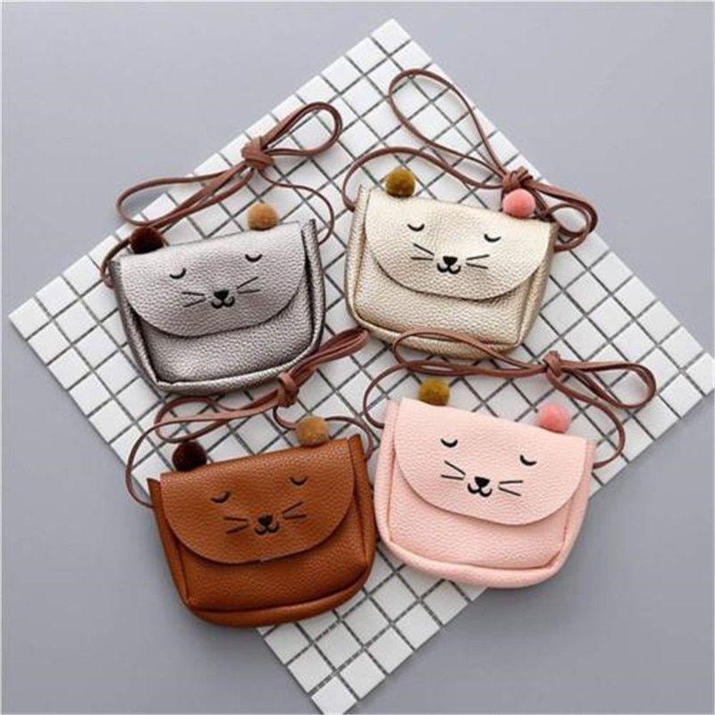 Baby Kid Girls PU Leather Shoulder Bag Messenger Handbag Crossbody Purse