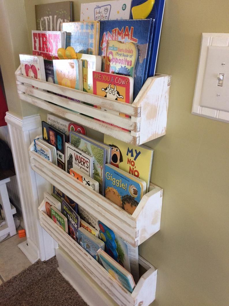 Single Rustic Childrens Book Shelves Kids Book Shelf Hanging