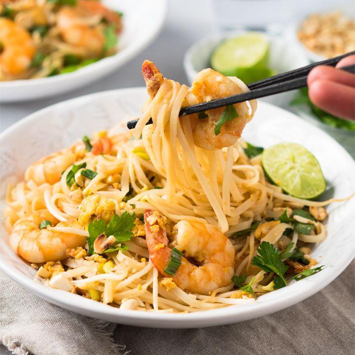 gluten free  keto pad thai with shirataki noodles