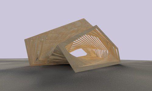 Unimpermanent design parametric design temporary for Pavilion concept architecture