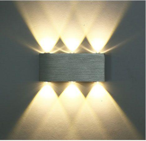 Deckey Modern Warm White 18w High Power 6 Led Up Down Wall Lamp Spot Light Sconce Lighting Convex Mirror Led Wal Led Wall Lights Wall Lights Modern Wall Lights