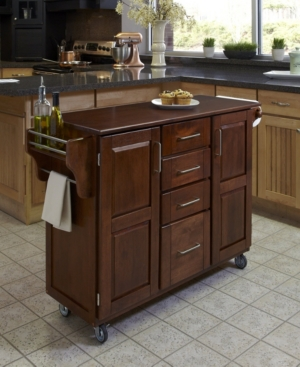 Create-A-Cart Cherry Finish with Cherry Top | Budget kitchen ...