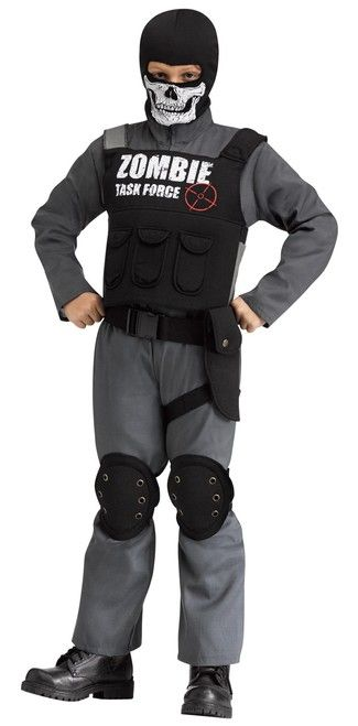 Zombie Task Force Child SWAT Costume - Help protect the civilians this Halloween! This costume makes a great police SWAT costume with jumpsuit vest belt ...  sc 1 st  Pinterest & Zombie Task Force Child SWAT Costume - Help protect the civilians ...