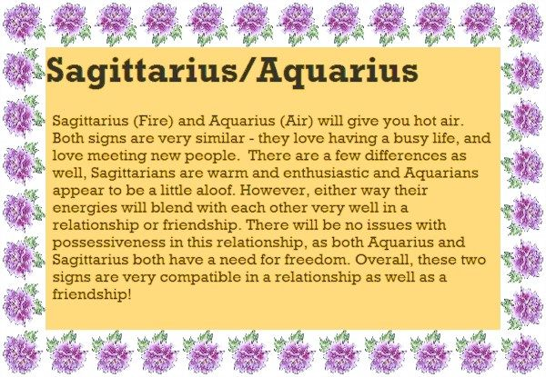Are Aquarius And Sagittarius A Good Match