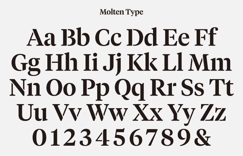Typeface designed by Hey for glassware maker Jeremy Maxwell Wintrebert