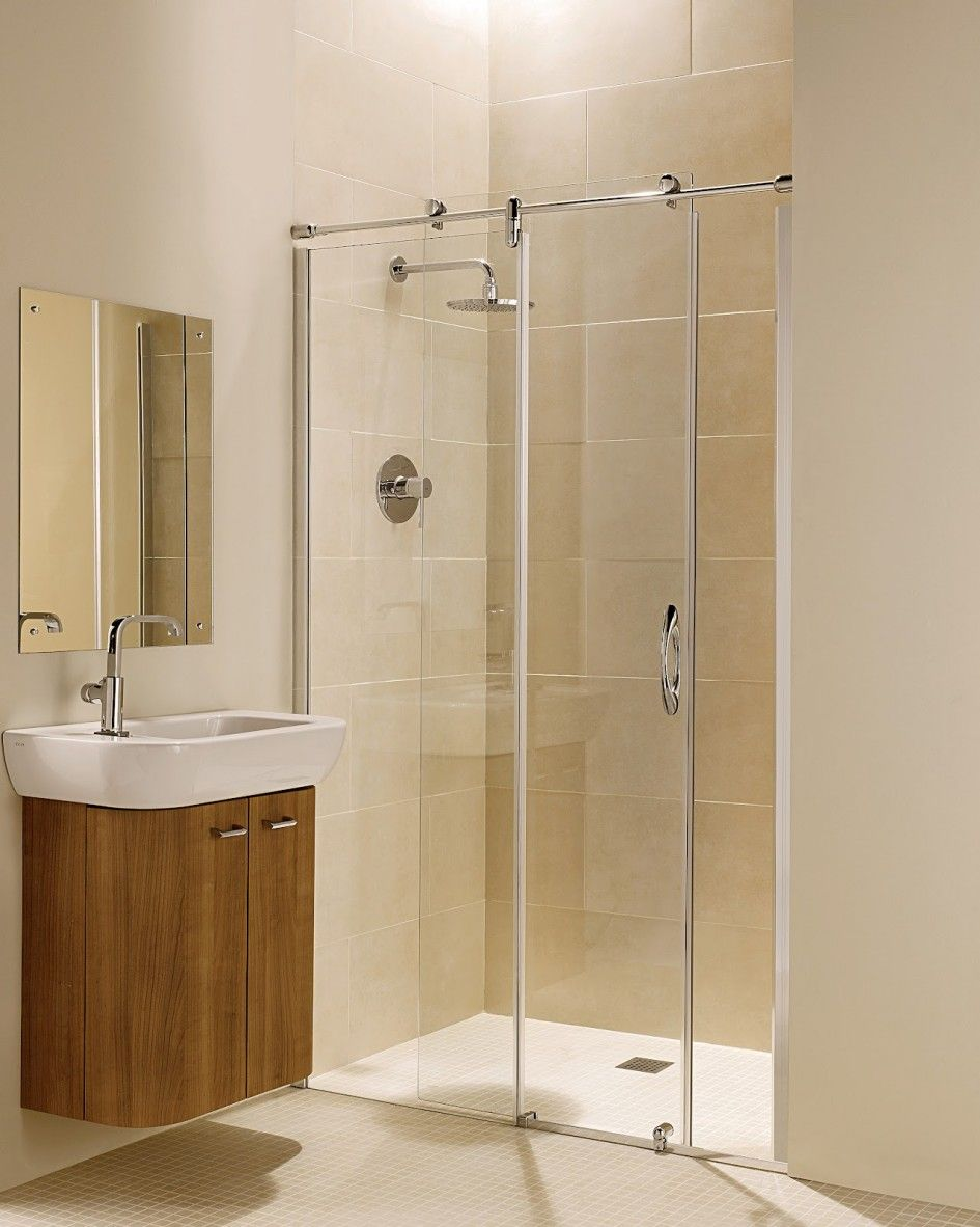 small bathroom with walk in shower | ... Bathroom Door Walk In ...
