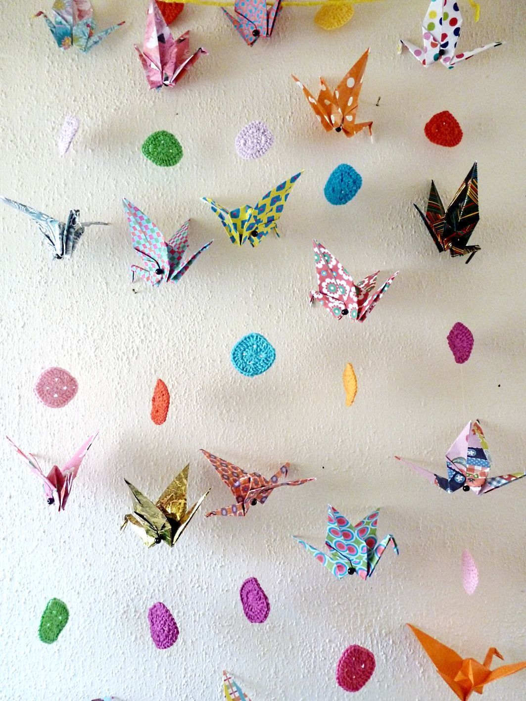 Franciens haakwerk: Playing with the origami birds