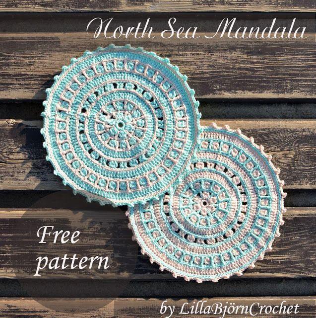 Mar del Norte Mandala - patrón de crochet libre - por ...