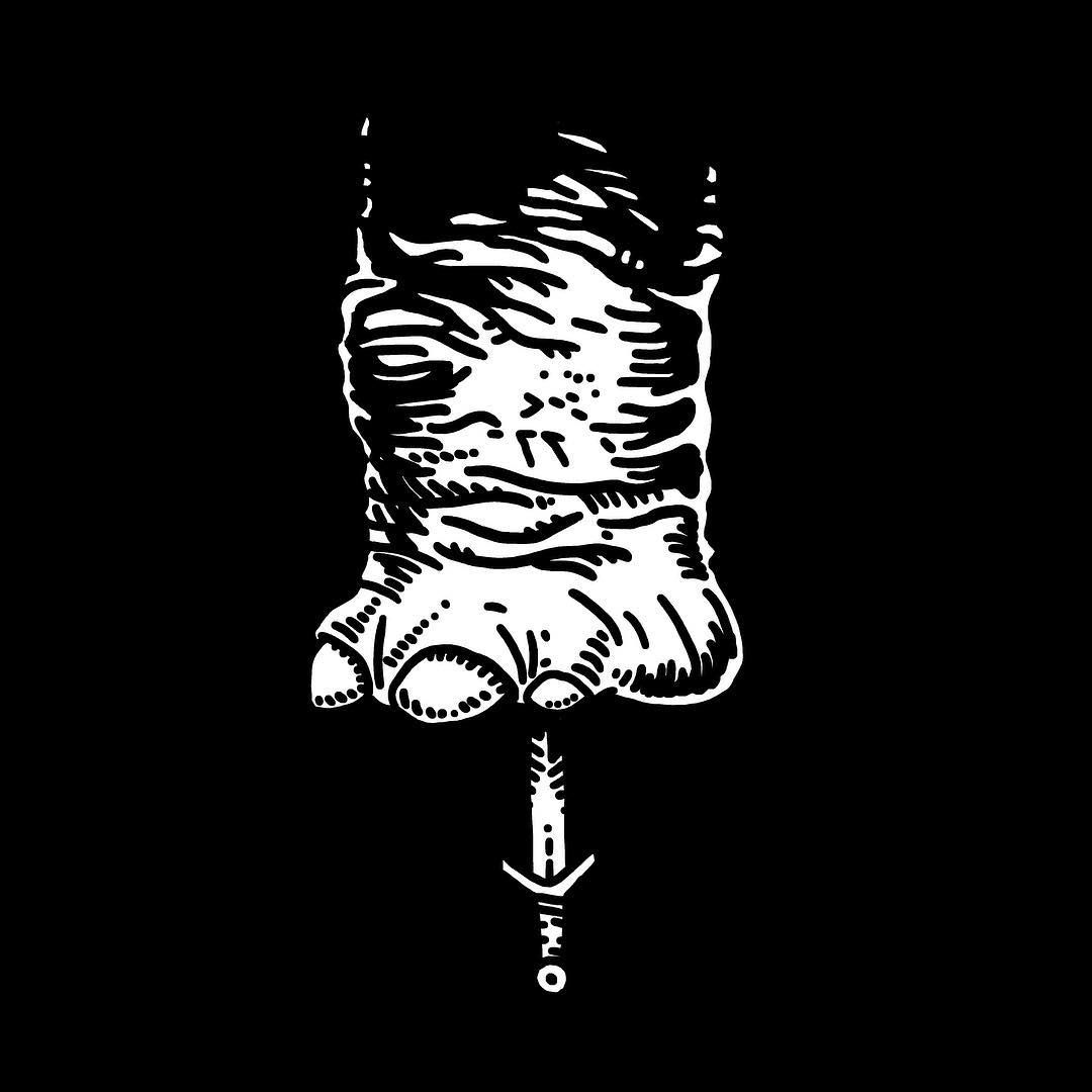 Elephant. — tattoo, tattoos, inspiration, woodcut, illustration — Daily Black & White Illustration