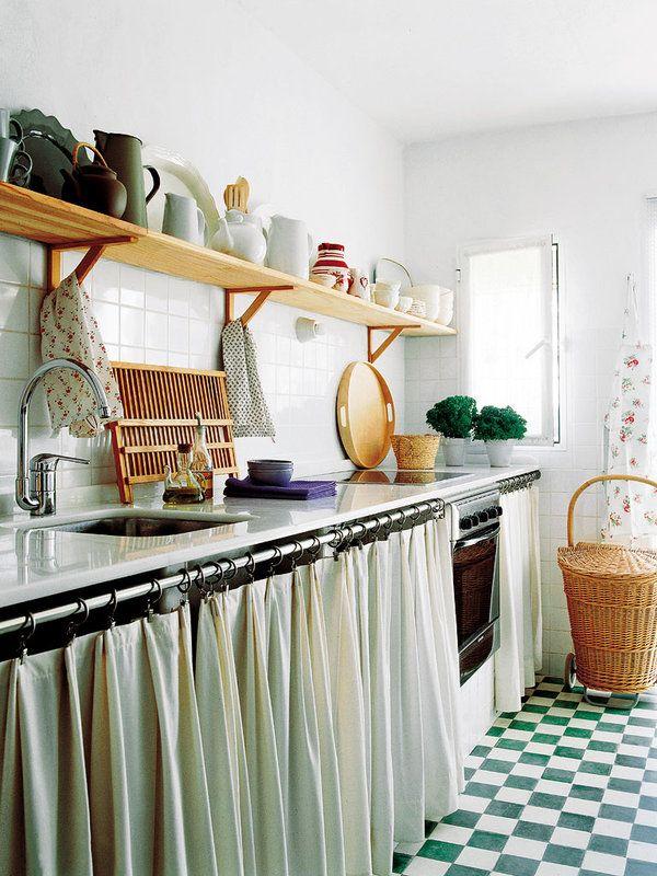 20+ Cortinas para muebles de cocina de obra ideas