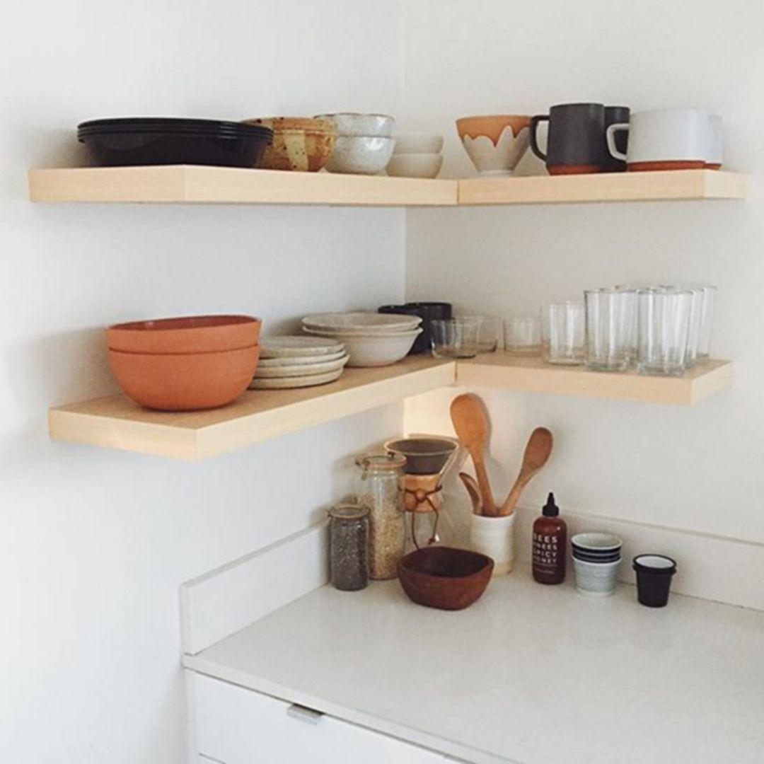 inspiring 25 best corner floating shelves to beautify on floating shelves kitchen id=39000