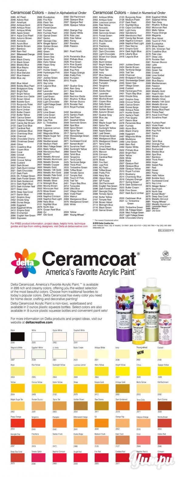 For The Complete Online Ceramcoat Color Chart Delta Creative