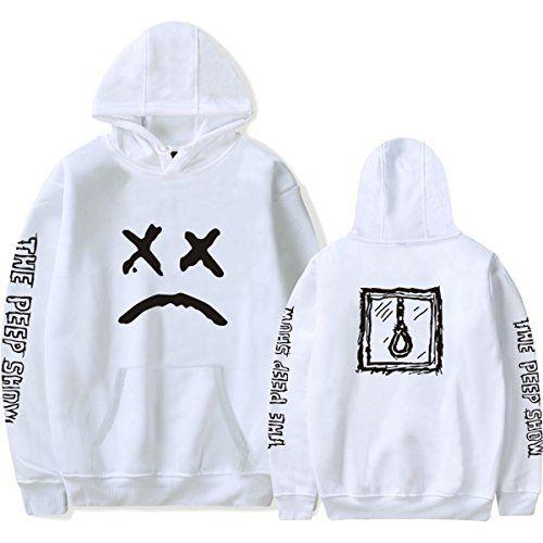 e9743e94a7f SIMYJOY Amants Lil Peep Sweats à capuche EMO Rap Pulls Crybaby Spotlight  Cool Street Fashion Sweat Shirt Pour Homme Femme Adolescent Blanc S