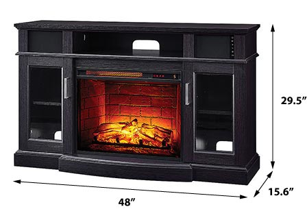Fremont Infrared Electric Fireplace Media Console In Espresso 1274fm 23 258 Scott Living In 2020 Electric Fireplace Fireplace Media Console Fireplace