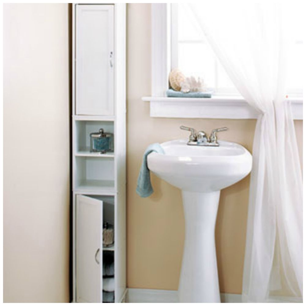 Bathroom Linen Cabinet Storage Slim Tower Beauty Organizer Shelves ...