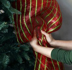 Quick Christmas Tree Decorating with Tinsel Ties a