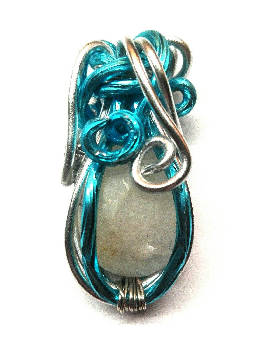 Portachiavi in wire e pietra di mare   Le gioie di Monica   Pinterest