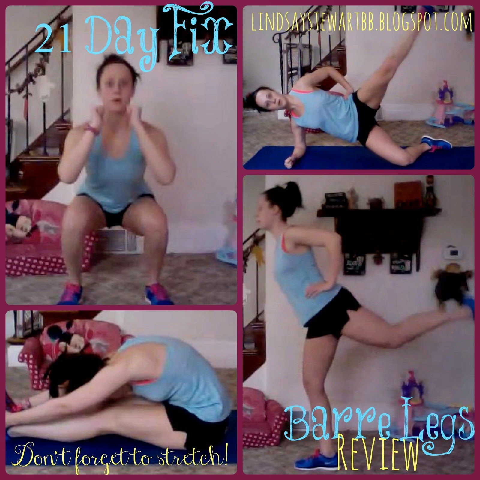 Lindsay Stewart 21 Day Fix Barre Legs Review Post Baby Workout 21 Day Fix Workout Review