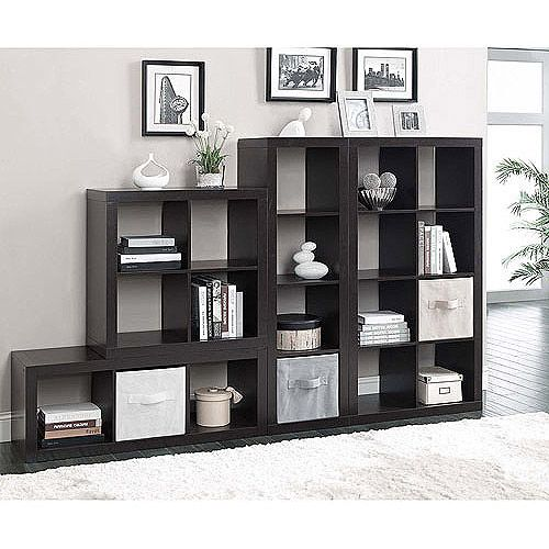 Better Homes And Gardens Square 4 Cube Organizer With Optional Storage Bins Mutliple Options Furniture Walmart