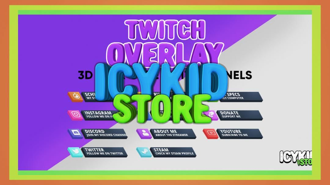 Twitch / Streaming Panels 3D Apex Cube Twitch Panels in