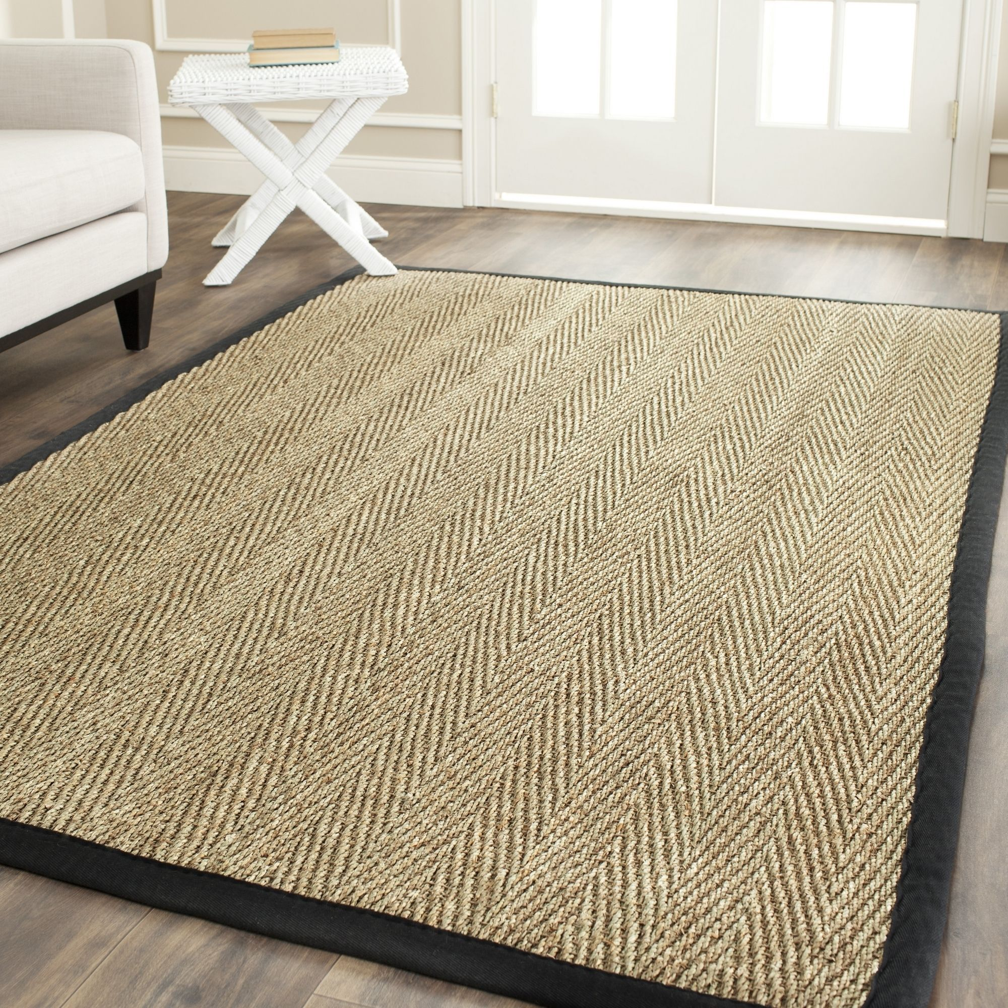 Safavieh Casual Natural Fiber Black Jute Area Rug 10 X 14 Nf115c Size