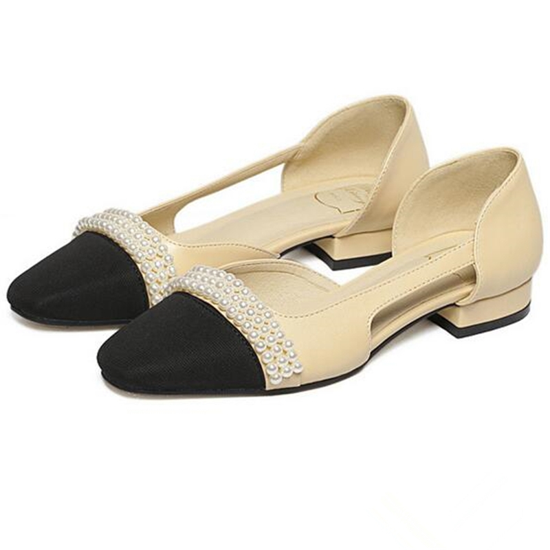 24.54$  Buy here - http://aliwef.shopchina.info/go.php?t=32620877269 - Free shipping 2016 spring summer new Europe hollow shoes women pumps square heels beads upper star style mesh toe slip-on  #buyonlinewebsite