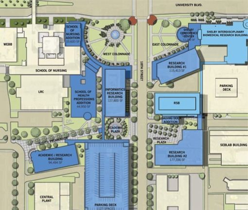 Uab Campus Map uab 2020 vision knowledge base page 2 510 X 432 ...