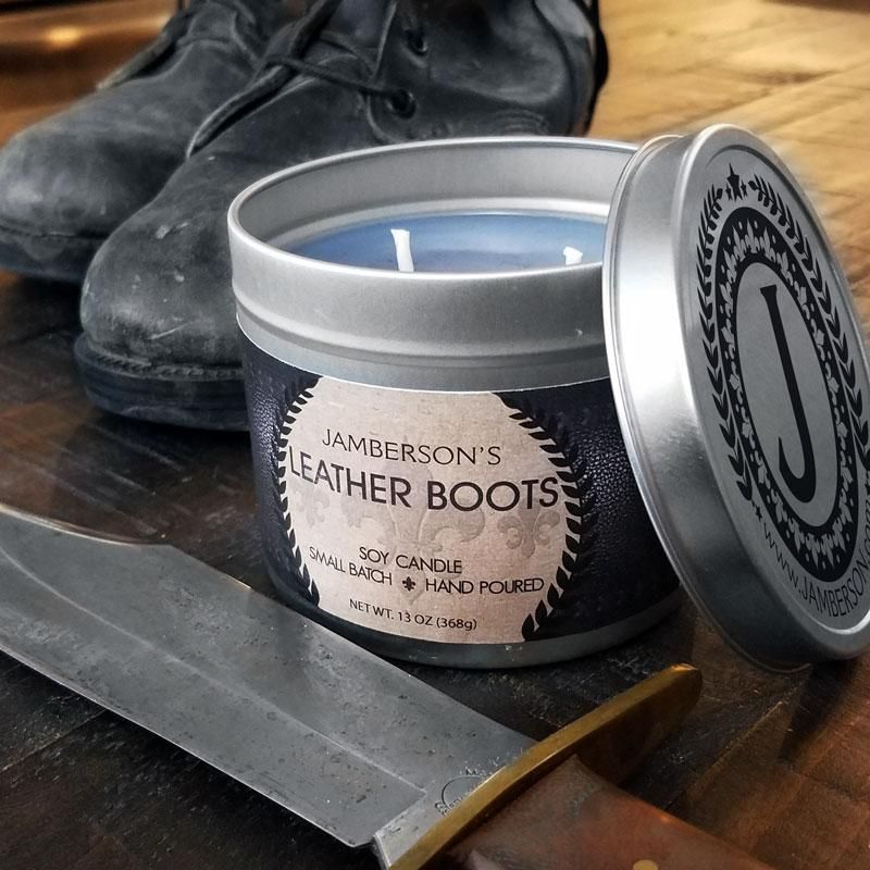 Leather Boot Soy Candle 13 oz Soy candles, Inexpensive