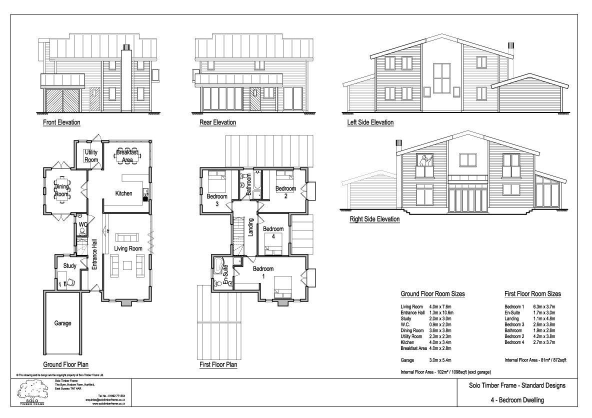 4 Bedroom Self Build Timber Frame House Design - Solo Timber Frame ...