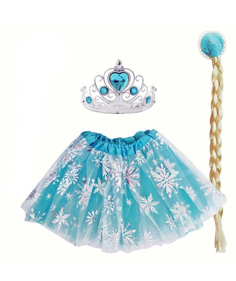 5252366610 3 részes Frozen Jégvarázs Elsa szett / jelmez (tütüs) -2 rétegű  ezüsthópelyhekkel díszített tütü / tüll szoknya derékbőség: 52-94 cm hossz:  30 cm – gyönyörű ...