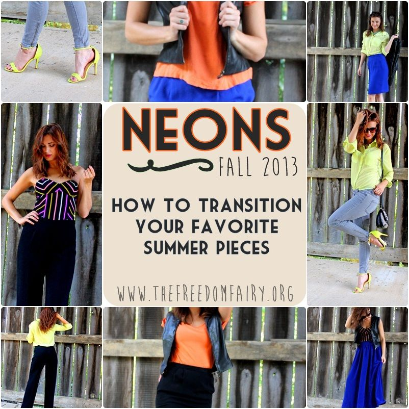 how to wear neons in the fall, neon fall, neon fashion