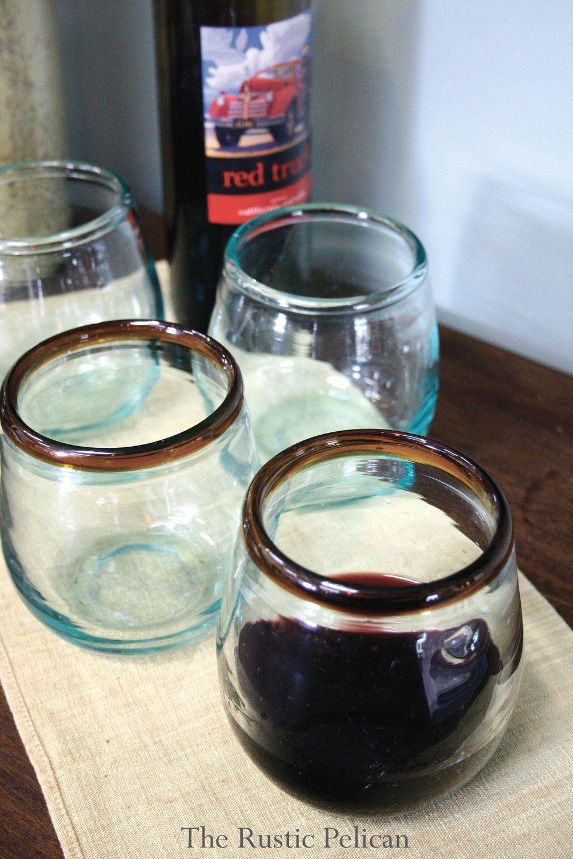 Casual Dinnerware, Rustic Glassware, Rustic Farmhouse Home decor - The Rustic Pelican #casualdinnerware