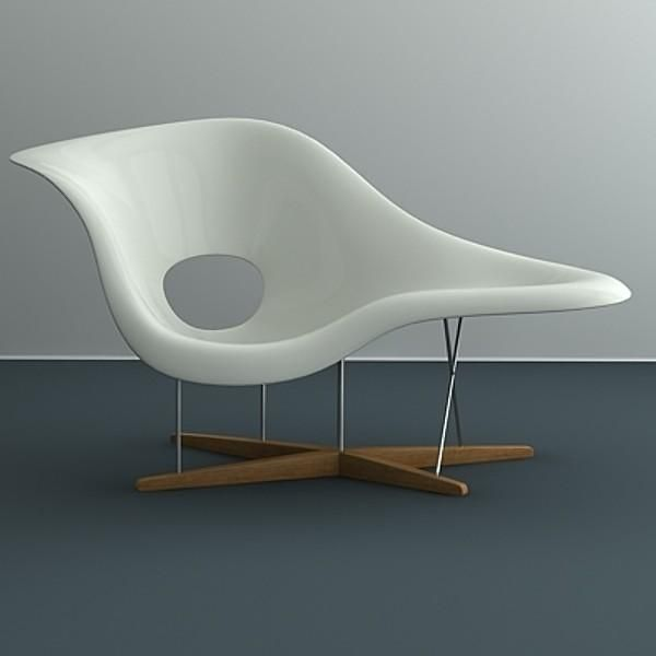 The voluptuous organic form of the Eames La Chaise was an