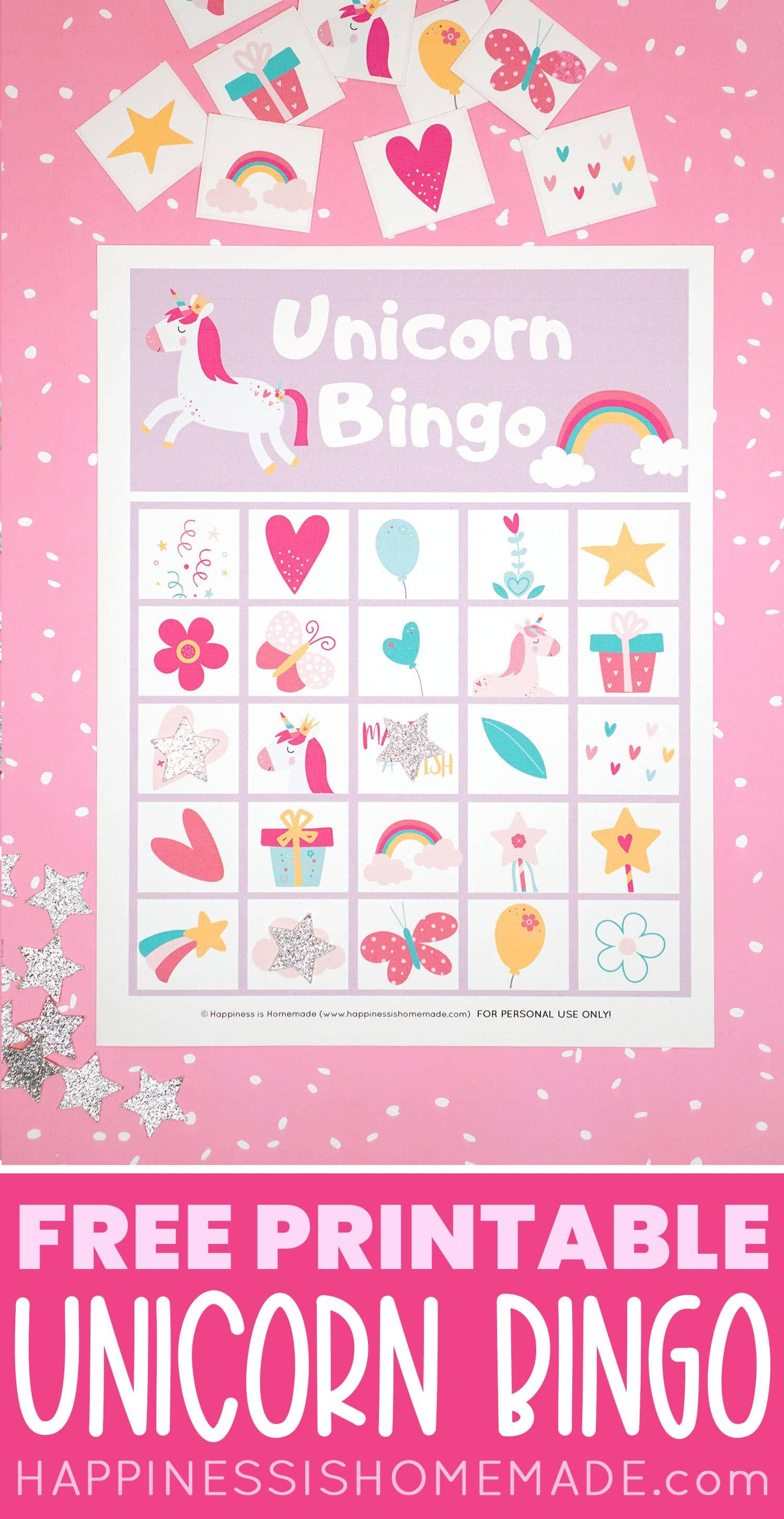 Download Our Free Printable Unicorn Bingo Game Cards To Play This Fun And Colorf Birthday Party Games For Kids Birthday Games For Kids Unicorn Birthday Parties