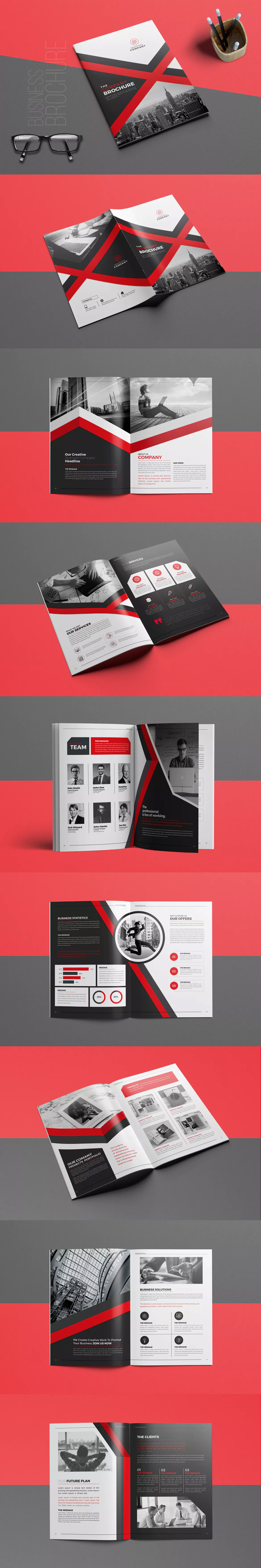 Brochure Template InDesign INDD A4 and US Letter Size | Memorias ...