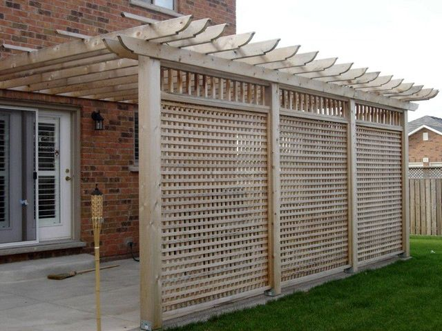 Privacy Screens Have Become Very Por Add Ons To New Deck Design In Addition Adding An Element Of Your Backyard Can Also