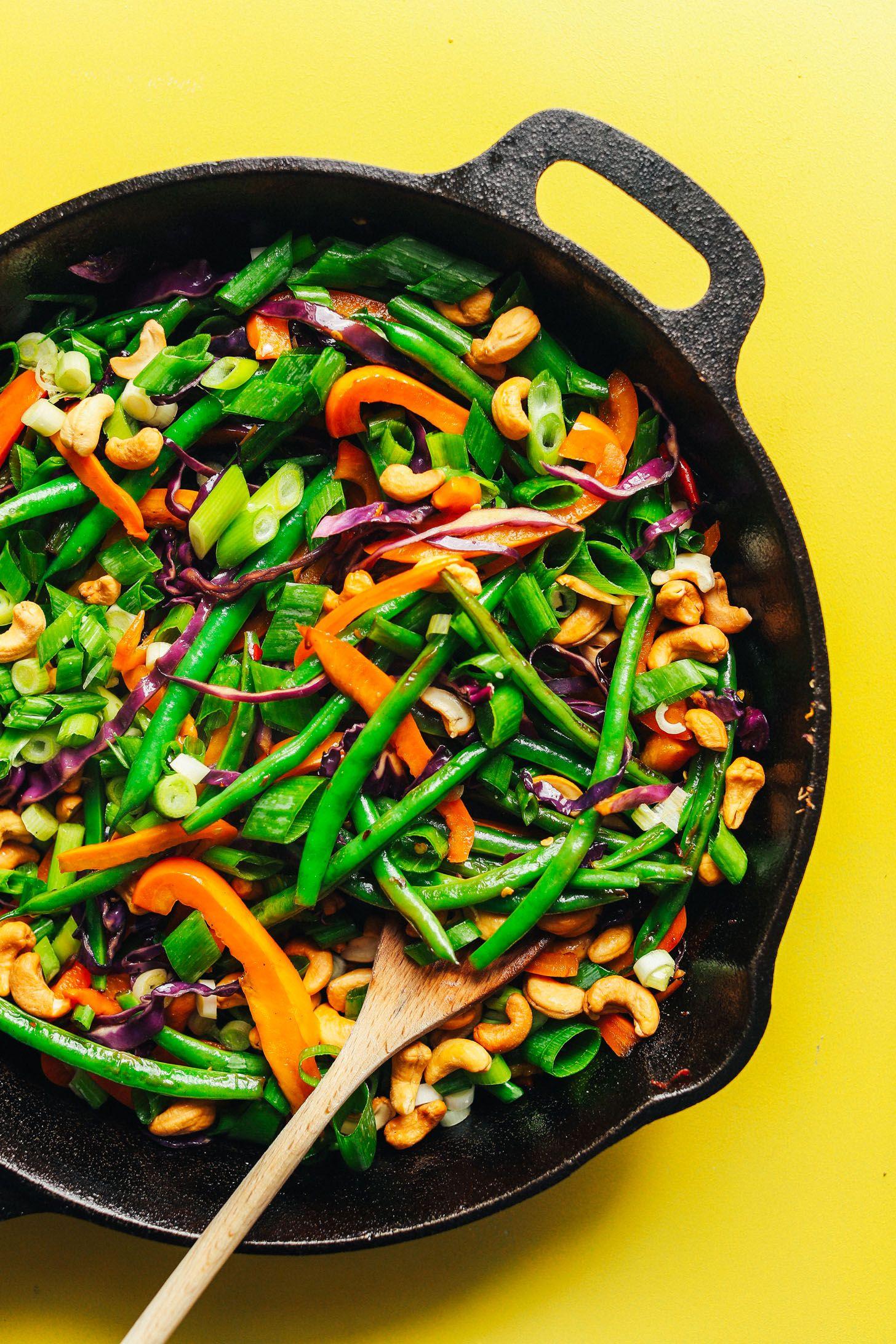 30 Minute Cauliflower Rice Stir Fry Minimalist Baker Recipes Recipe Cauliflower Rice Stir Fry Cauliflower Rice Stir Fry