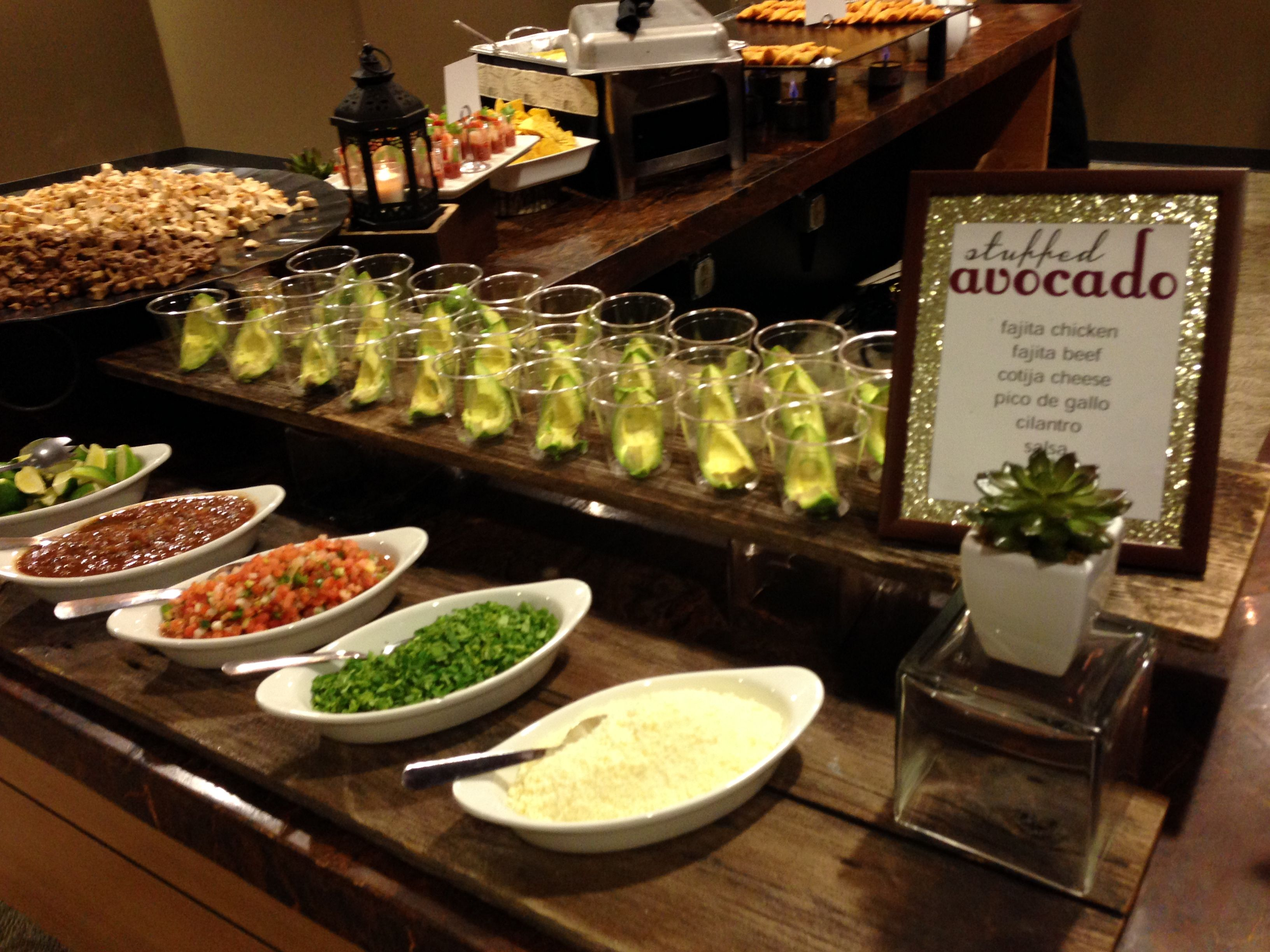 Build Your Own Stuffed Avocado Bar Catering Avocadobar