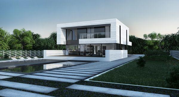 single-family dwelling house on Behance