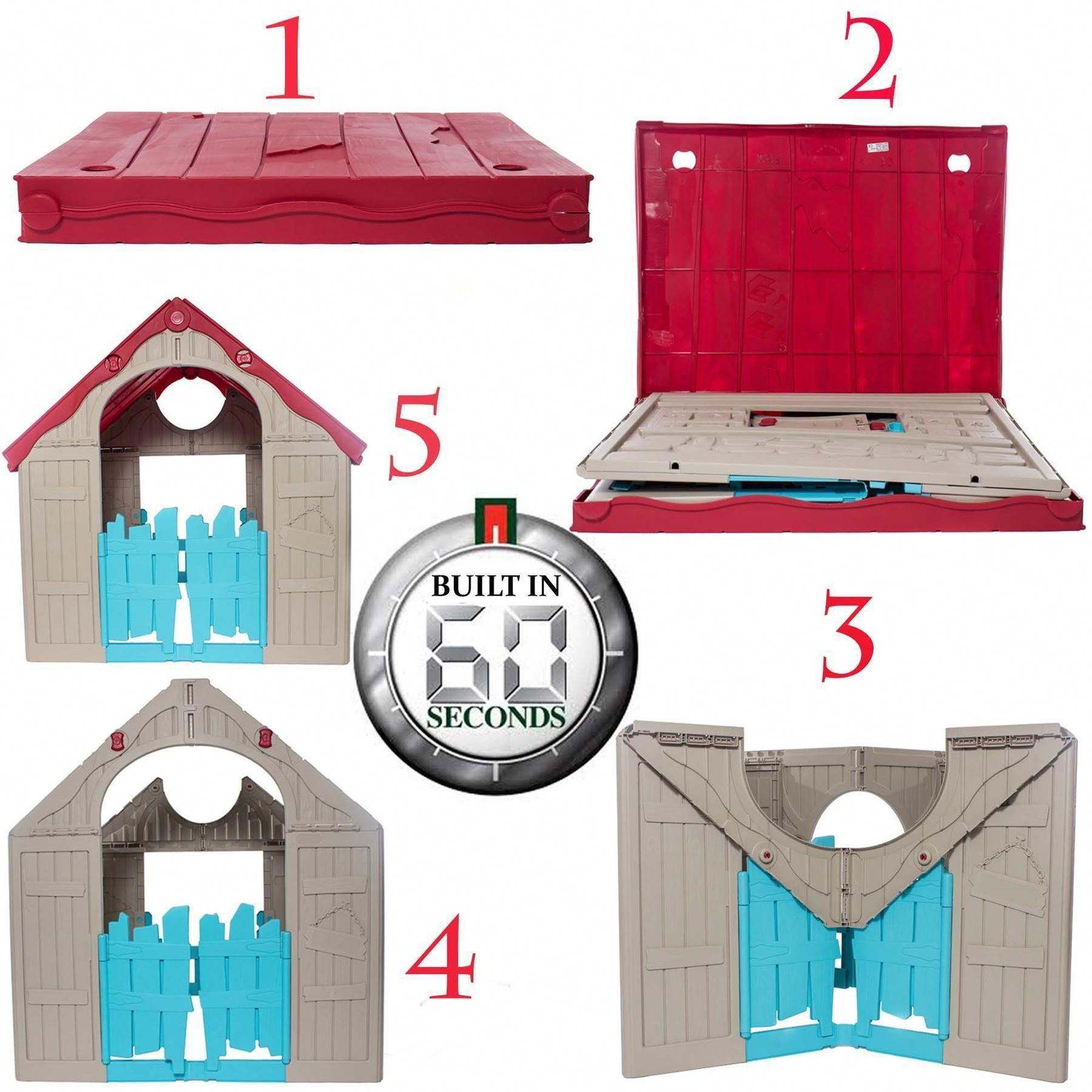 Keter Holiday Plastic Playhouse 30 B Q Play Houses Plastic