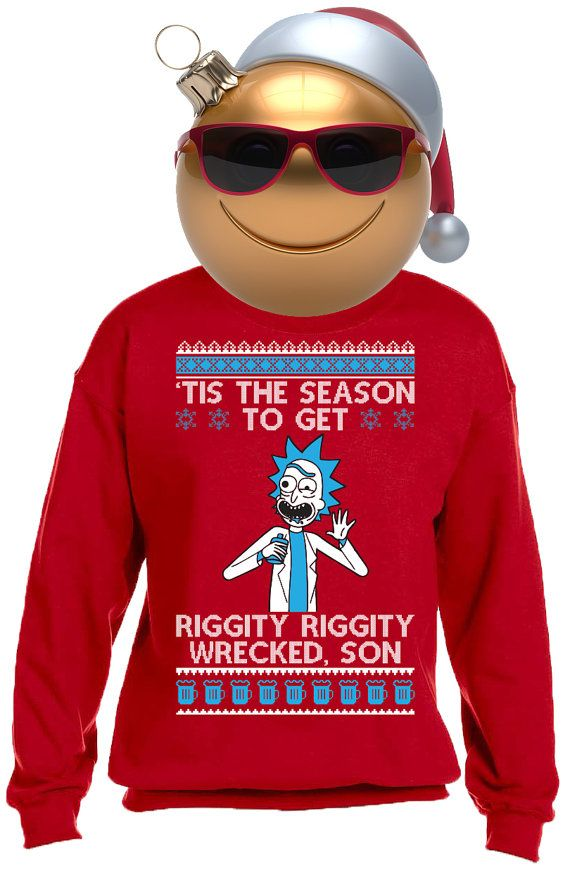 Rick Morty Wrecked Ugly Christmas Sweater New Par Thesweaterking