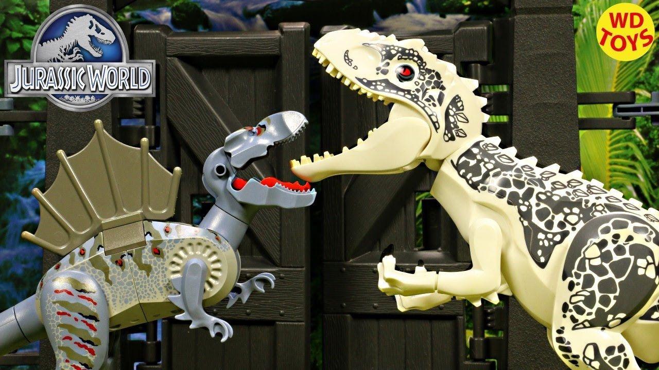 New Lego Jurassic Park Spinosaurus Vs Indominus Rex 7620 Original No Kn Lego Jurassic Park Spinosaurus Lego Jurassic