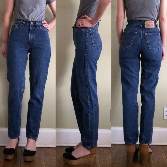 High waisted straight leg jeans levis