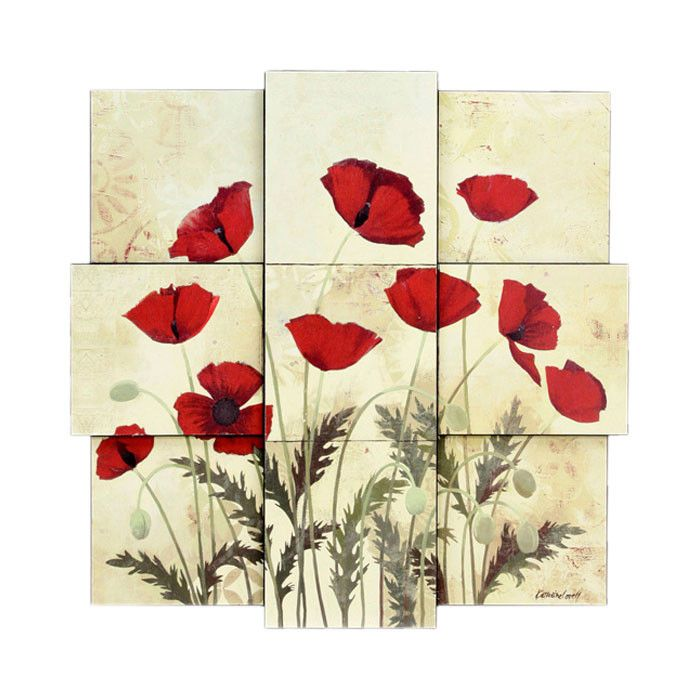 Poppies Wall Decor Art Pinterest Wall Decor Walls And Red Kitchen