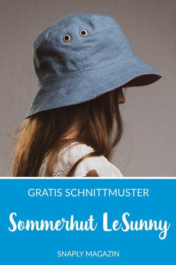 Chapeau d'été pour enfants cousu – patron de couture gratuit   – Schnittmuster kostenlos