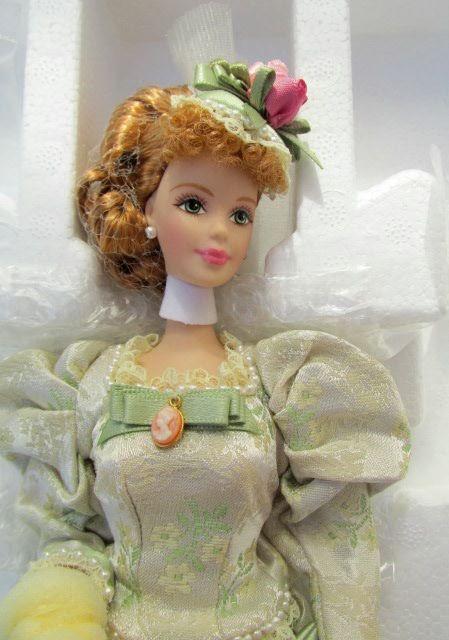 Барби фарфоровая, коробочное хранение. Уже раритет 1998 ...