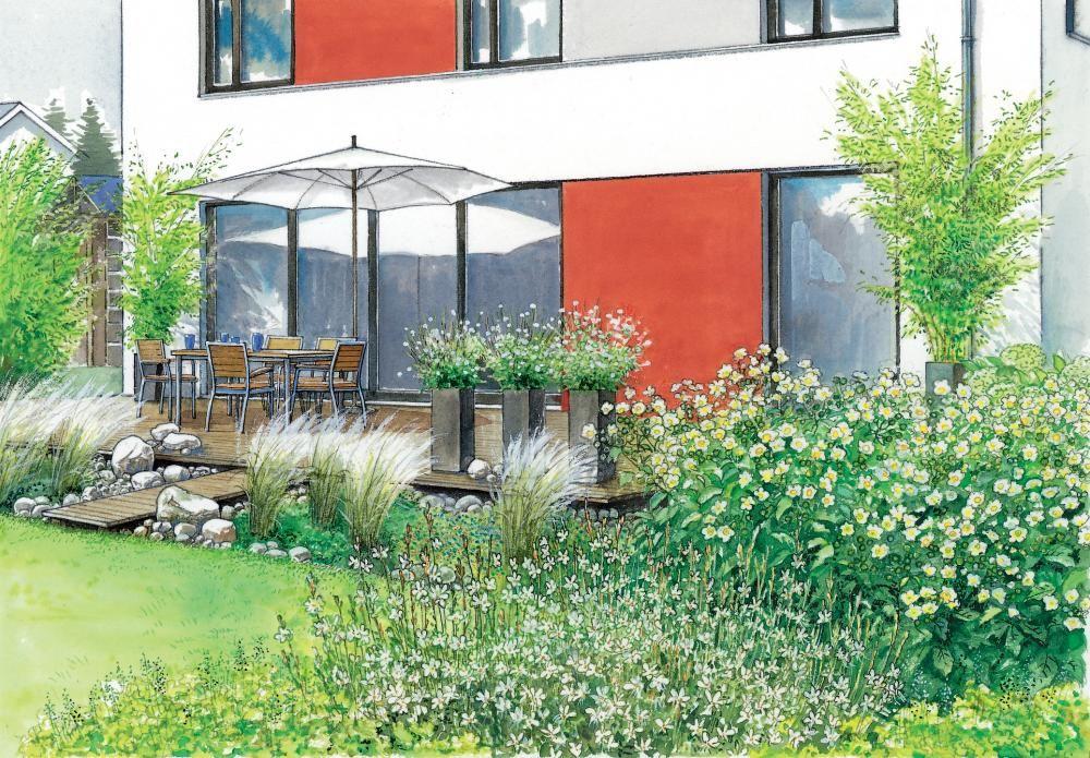 Gartenideen Fur Einen Modernen Neubau Gartengestaltung Garten Garten Ideen