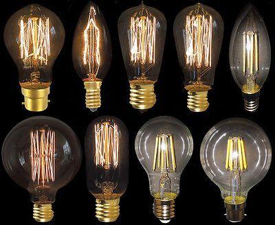 Vintage Deko Nostalgie Lampe LED Edison Glühbirne Squirrel 6W, E27, 240V